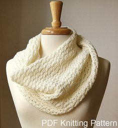 Infinity Scarf KNITTING PATTERN. Circular scarf by AtelierTPK