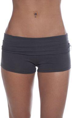 Foldover Waist Workout Yoga Hot Mini Shorts