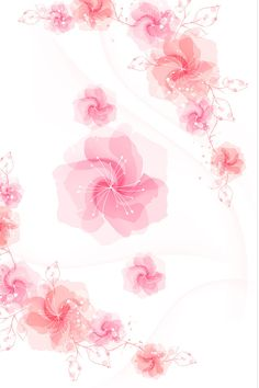 Pink Floral   Pink Flowers Vector iPhone 4 Wallpaper   4iPhoneWallpapers.com