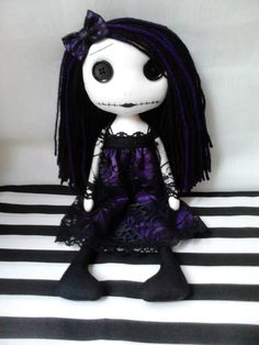 Gothic Rag Doll - Reserved listing for Miss j on Etsy, £25.00