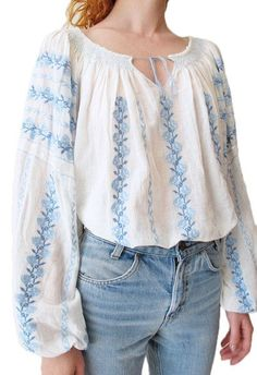The most beautiful embroidered blouse