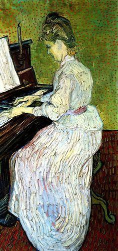 Marguerite Gachet at the Piano - Vincent van Gogh  1890