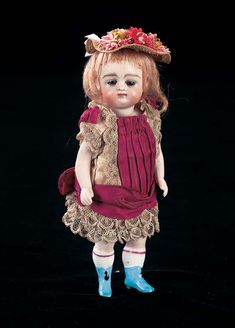 View Catalog Item - Theriault's Antique Doll Auctions - german with blue boots, 6""