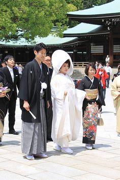 Traditional bride & groom at the Meiji Shrine