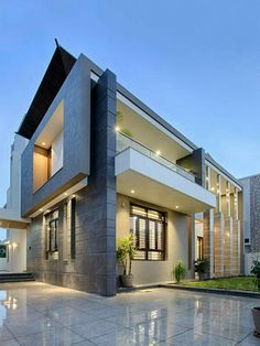 Luxury Modern House Design Architecture Facades Glamorous and exciting architecture inspiration See Facade Architecture, Beautiful Architecture, Contemporary Architecture, House Front Design, Modern House Design, Facade Design, Exterior Design, Luxury Modern Homes, Facade House