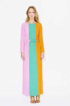Vintage Lanvin (colour block maxi dress)