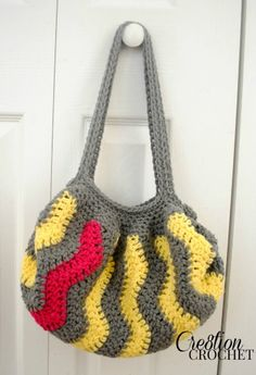 free crochet pattern Pop of Pin Vertical Chevron Purse #cre8tioncrochet