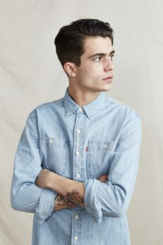 Up sleeves is the new hype. #shirt #denim