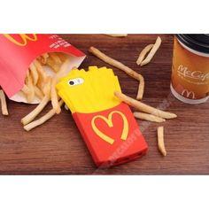 Carcasa diseño divertida patatas fritas 3D para iPhone 6