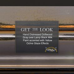 Get the Look -  Try General Finishes Driftwood Gray Milk Paint over Lamp Black accented with Yellow Ochre for a real WOW factor! For some expert tips on hand distressing your furniture watch GF's tutorial video. https://www.youtube.com/watch?v=DQilIHtFxpY  #generalfinishes #gfmilkpaint #gfglazeeffects #getthelook