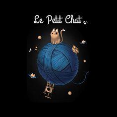 7d35ec74 Le Petit Chat Men's T-Shirt by BlancaVidal - Cloud City 7 Cloud City,