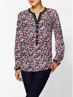 Tinley Road Floral Printed Blouse | Piperlime