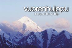 vuorenhuippu ~ mountaintop