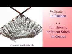 Knitting Video Full Brioche or Patent Stitch in Rounds. Wollefein Ekaterina…