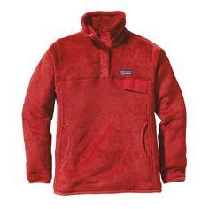 Patagonia Women's Re-Tool Snap-Tu00AE Fleece Pullover - Cochineal Red - Wax Red X-Dye CRWX