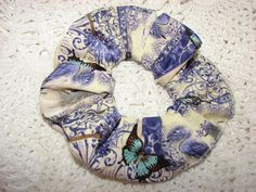 Paisley Victorian Bird Butterfly Fabric Hair by coloradocntry