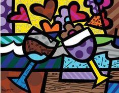 תוצאת תמונה עבור obras de romero britto imagens para colorir