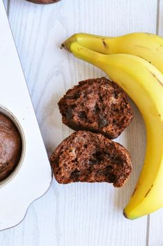 The ultimate blend of a rich, decadent brownie and dense, moist banana bread, these double chocolate banana muffins taste so much like a naughty, indulgent dessert you'd never guess they're healthy enough to eat for breakfast! Totally free from added fats with just a tiny bit of added sugar, these nutritious muffins get all their wonderful moist, brownie-like texture naturally from bananas and applesauce.