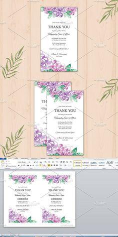 Wedding Thank You Table Card . Wedding Card Templates