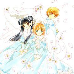 CLAMP, Cardcaptor Sakura, Li Meiling, Kinomoto Sakura, Li Syaoran, White Wings