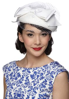 Millinery Masterpiece Hat - #ModCloth. I'm wearing a hat to church for Easter, and anyone who's woman enough should join me.