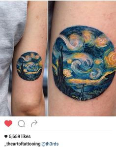 Starry night tattoo by @th3rds