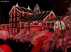 Christmas at the Old Clifton Mill, Ohio...