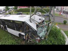KVB Bus von oben (nach dem Unfall)