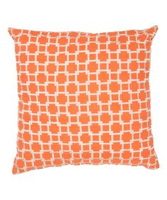 Look what I found on #zulily! Orange & Ivory Geometric Throw Pillow - Set of Two - Set of Two #zulilyfinds