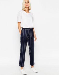 ASOS Straight Leg Pant in Stripe Co-Ord