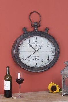 Metal Wall Clock - Dark Brown