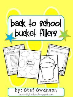 Back to School {Bucket Fillers}  FREEBIE!!   dreambigkinders.blogspot.com