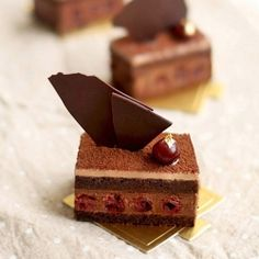 Hidemi Sugino's Charme - a black forest gateau made with dark chocolate and kirsch soaked cherries