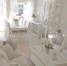 12 Modern Ways To Home Interior Design Step By Step - Dreamy modern French apartment ideas. The Best of shabby chic in Chic Living Room, Cozy Living Rooms, Apartment Living, Home And Living, Living Room Decor, French Apartment, Apartment Ideas, Shabby Chic Interiors, Shabby Chic Decor
