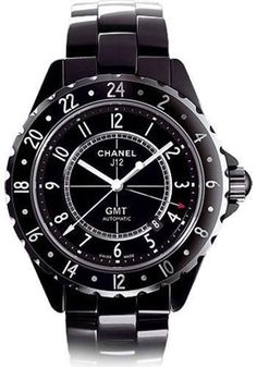 Chanel - J12 Black Ceramic 42mm GMT Watch H2012