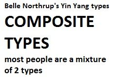 "most are a blend of 2 or more types in northrup's yin yang type system & mcjimsey gives hints on how to dress. some #kibbe types are blends. caygill & wright have similar subtypes. segerstrom has secondary types (eg ""Type 2 with Type 3 Secondary""/""T2-3""); #dyt has identical primary & secondary type naming to segerstrom; kenter also 16 types http://16seasons.com/16-seasons. john kitchener psc tells you percentages of your main 3 types.(eg 60%subtle blended 30%striking contrast 10%lively bright)"