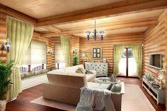 Декорирование бревенчатого дома в стиле «Прованс» | ЕГОР СОМОВ