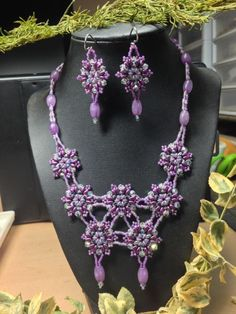 Purple Jade - Jewelry creation by Bluejean Purple Jewelry, Jade Jewelry, Jewelry Sets, Jewelry Making, Handmade Jewelry, Jewels, Crafty, How To Make, Inspiration