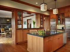 Or more wooden warm feeling kitchen???