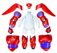Every kid will love the Big Hero 6 Armor-Up Baymax Action Figure. They get to have the best of both worlds kind gentle Baymax and ready for action Baymax. The Big Hero, Hiro Big Hero 6, Big Hero 6 Baymax, Heros Disney, Disney Toys, Disney Movies, Disney Stuff, Disney Pixar, Walt Disney
