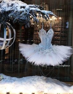 The magical Christmas window at Repetto.