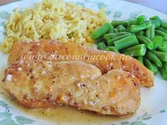 The Country Cook: Crock Pot Lemon Garlic Chicken
