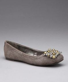 #Take a look at this Silver Metallic Tiffany Ballet Flat by Calvin Klein on #zulily today!