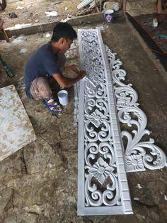 Preparing a new carved Arochka ? Thermocol Craft, Window Curtain Designs, Styrofoam Art, Ganpati Decoration At Home, Foam Carving, Motif Art Deco, Wood Appliques, Elegant Curtains, Wood Carving Designs