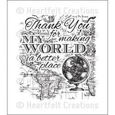 Heartfelt Creations Cling Rubber Stamp Set 5X6.5