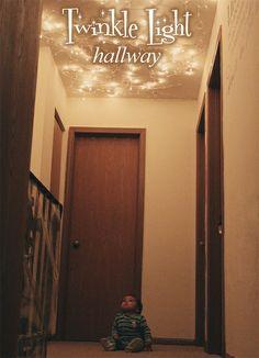 Twinkle Light Hallway via Sophistishe.com