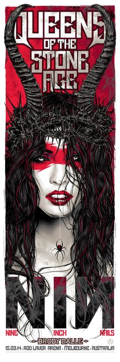 Rhys-Cooper-Queens-of-the-Stone-Age-Nine-Inch-Nails-Melbourne-Poster-Night-two.jpg (533×1600)