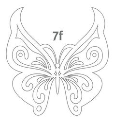 Butterfly stencil or embroidery patterns more – Artofit Butterfly Template, Butterfly Pattern, Butterfly Art, Butterfly Stencil, Crown Template, Butterfly Mobile, Heart Template, Flower Template, Kirigami