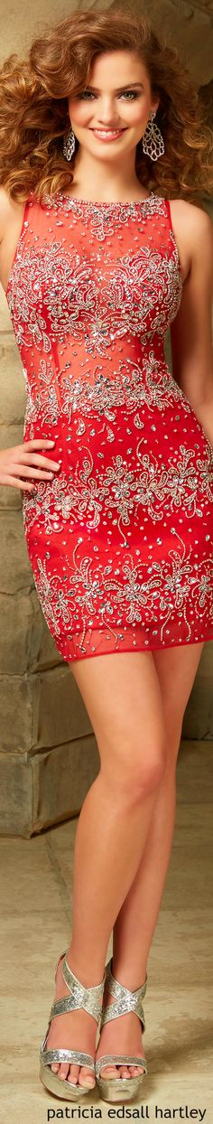 Mori Lee is very pretty looking very festive in red, Merry Christmas