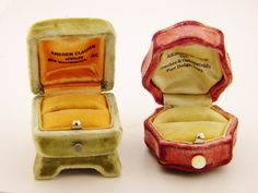 Antique Victorian Velvet Ring Boxes Petite RARE | Collectors Weekly